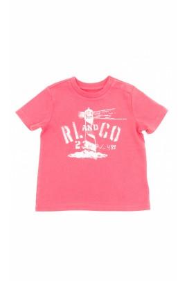 Bordowy t-shirt chłopięcy, Polo Ralph Lauren