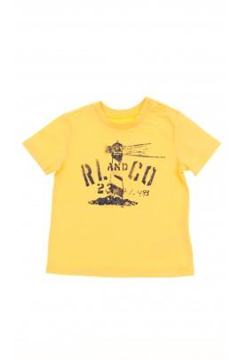 Żółty t-shirt chłopięcy, Polo Ralph Lauren