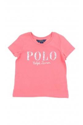 Czerwony t-shirt dziewczęcy, Polo Ralph Lauren