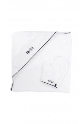 Ręcznik kąpielowy biały, HUGO BOSS