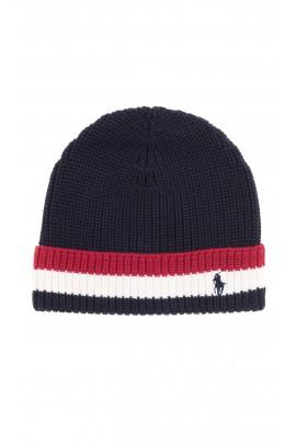 Granatowa czapka chłopięca, Polo Ralph Lauren