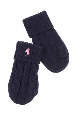 Granatowe rękawiczki jednopalczaste, Polo Ralph Lauren