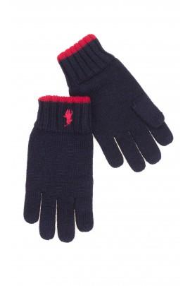 Granatowe rękawiczki chłopięce, Polo Ralph Lauren