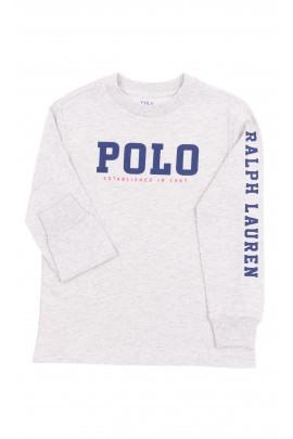 Szary t-shirt z długim rękawem, Polo Ralph Lauren