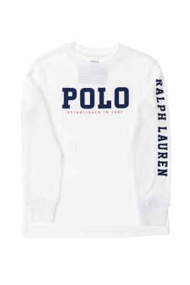 Biały t-shirt z długim rękawem, Polo Ralph Lauren