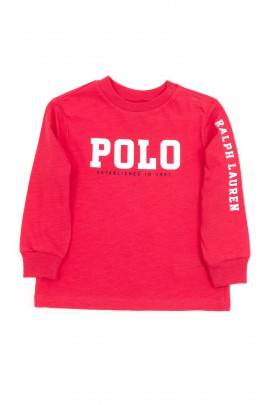 Czerwony t-shirt z długim rękawem, Polo Ralph Lauren