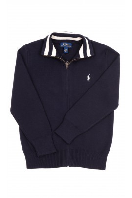 Granatowy sweter na suwak, Polo Ralph Lauren