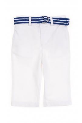 Białe spodnie niemowlęce, Polo Ralph Lauren