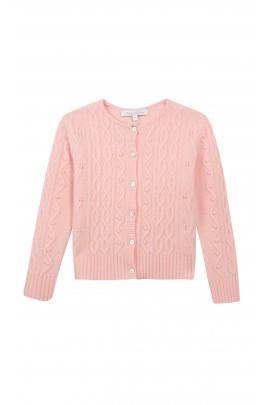 Różowy sweterek ażurowy, Tartine et Chocolat