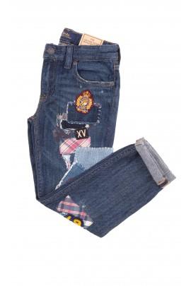 Dżinsowe spodnie z naszytymi aplikacjami, Polo Ralph Lauren