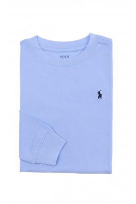 Niebieski t-shirt chłopięcy z długim rękawem, Polo Ralph Lauren