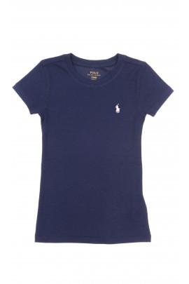 Granatowy t-shirt dziewczęcy, Polo Ralph Lauren