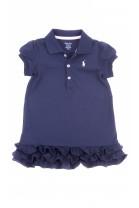 Granatowa sukienka niemowlęca z kołnierzykiem, Polo Ralph Lauren