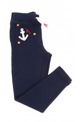 Granatowe legginsy dziewczęce, Polo Ralph Lauren