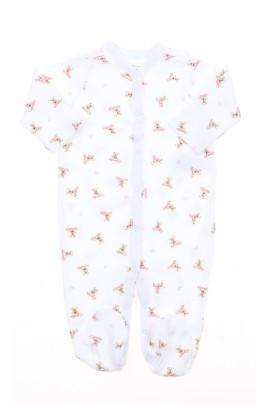 Śpioch niemowlęcy biały w różowe misie, Polo Ralph Lauren