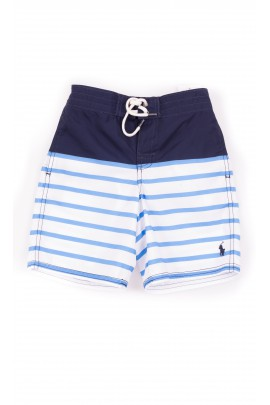 1dd8781c185f9 ... discount navy blue boy swim shorts striped white and blue polo ralph  lauren 93d52 bcc85 ...