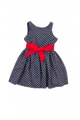 Granatowa sukienka w groszki, Polo Ralph Lauren