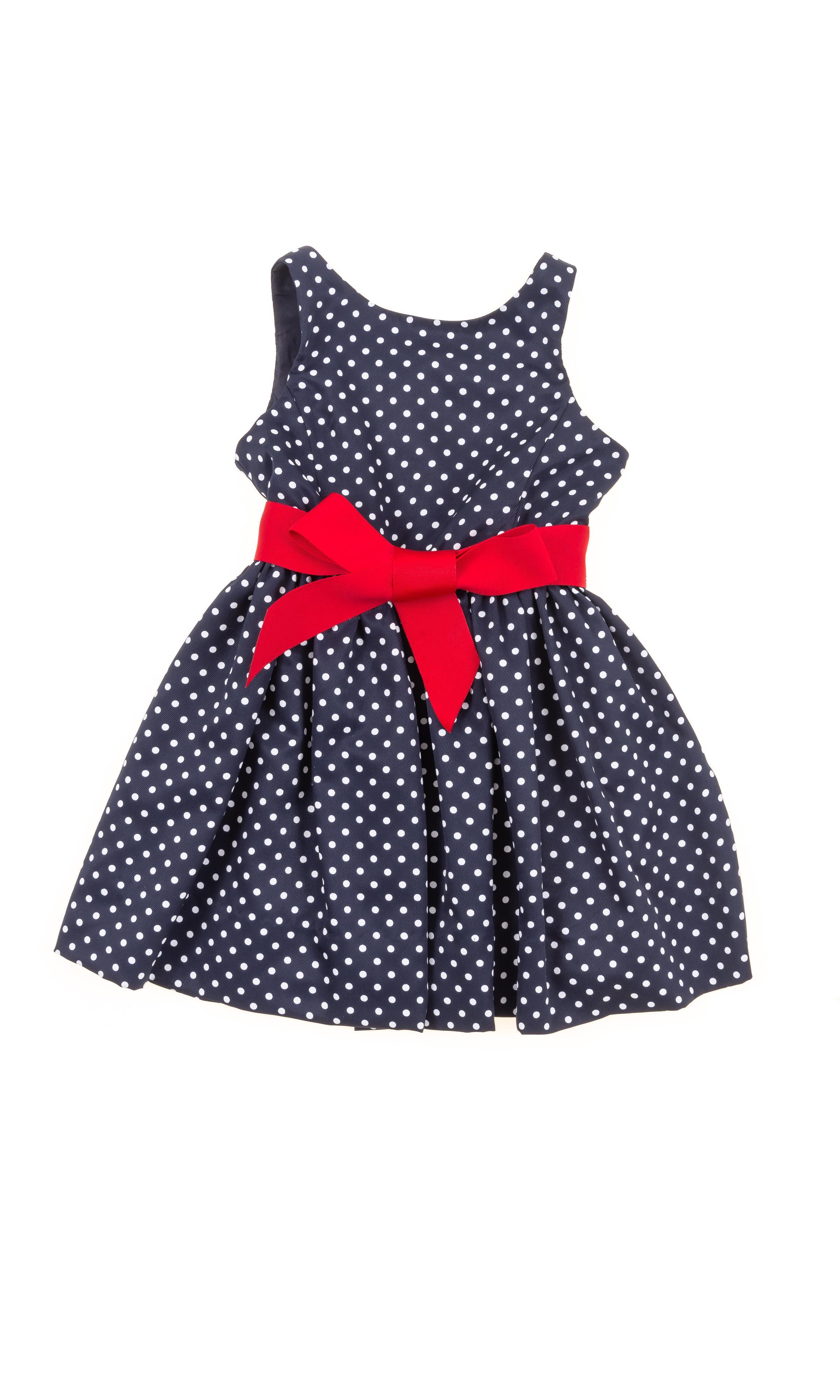 38456423c0 Granatowa sukienka w groszki