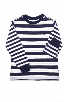 T-shirt w biało-granatowe paski, Polo Ralph Lauren