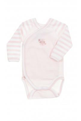 Różowo-białe body niemowlęce, Petit Bateau