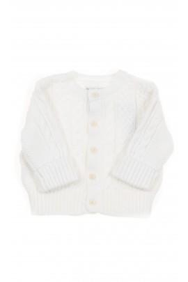 Biały sweterek niemowlęcy, Polo Ralph Lauren