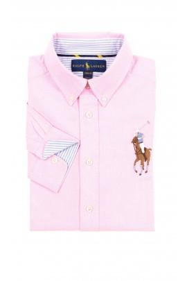 Różowa koszula chłopięca, Polo Ralph Lauren