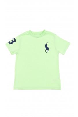 Seledynowy t-shirt chłopięcy, Polo Ralph Lauren