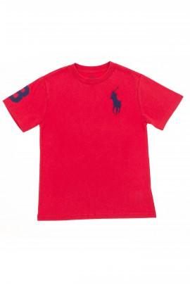 Czerwony t-shirt chłopięcy, Polo Ralph Lauren