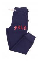 Granatowe spodnie dresowe z dużym czerwonym napisem POLO, Polo Ralph Lauren