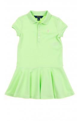 Zielona sukienka z falbaną, Polo Ralph Lauren