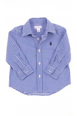 Niebieska koszula w drobną kratkę, Polo Ralph Lauren