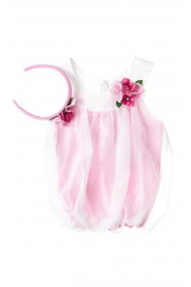 Top różowy tiulowy dziewczęcy, Lesy