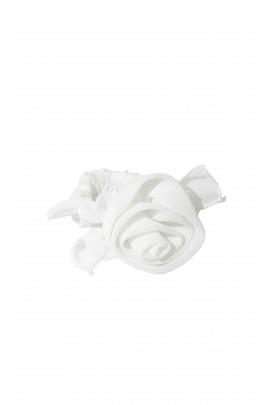 Biała bransoletka na gumkę, Aletta
