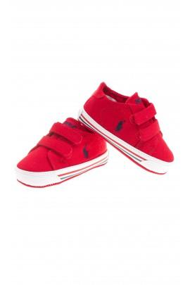 Czerwone tenisówki niemowlęce, Polo Ralph Lauren