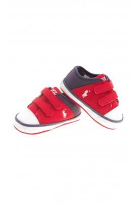 Baskets rouges et bleu marine pour bébé, Polo Ralph Lauren