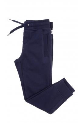 Ciemno-granatowe spodnie dresowe zwężane, Hugo Boss