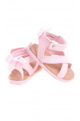 Różowe sandałki niemowlęce zapinane wokół kostki, UGG