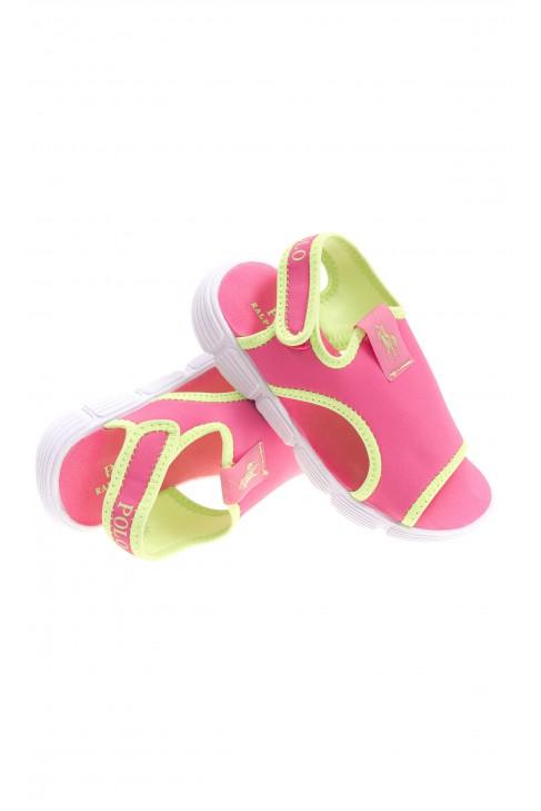 Różowe sandały plażowe, Polo Ralph Lauren