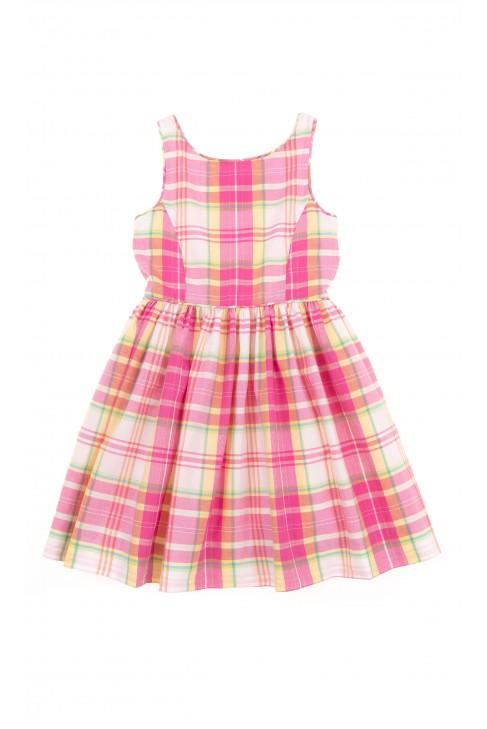 Sukienka w kolorową kratkę na ramiączka, Polo Ralph Lauren