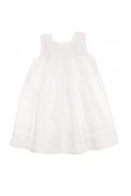 Biała niemowlęca sukienka, Polo Ralph Lauren