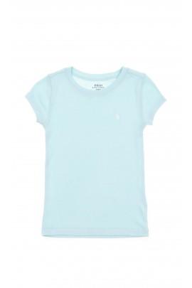 T-shirt dziewczęcy niebieski,  Polo Ralph Lauren