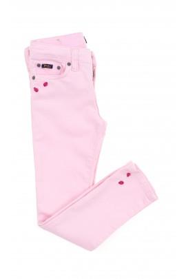 Różowe spodnie dziewczęce super slim, Polo Ralph Lauren