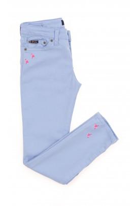 Niebieskie spodnie dziewczęce super slim, Polo Ralph Lauren