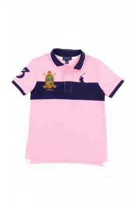 Granatowo-różowe polo chłopięce, Polo Ralph Lauren