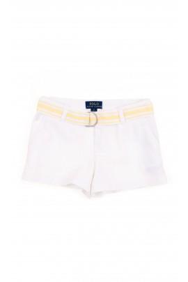 Białe krótkie spodenki dziewczęce, Polo Ralph Lauren