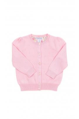 Sweterek różowy niemowlęcy rozpinany na guziki, Polo Ralph Lauren