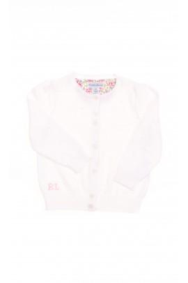 Sweterek biały niemowlęcy rozpinany na guziki, Polo Ralph Lauren