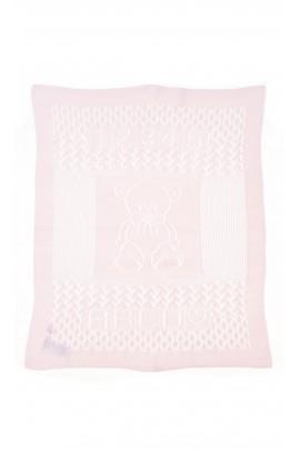 Różowa ażurowa kapa-kocyk, Polo Ralph Lauren