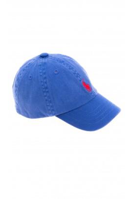 Niebieska czapka z daszkiem z czerwonym konikiem, Polo Ralph Lauren