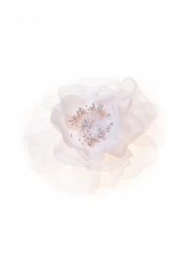 Broszka z różowych płatków kwiatowych z jedwabiu, Aletta